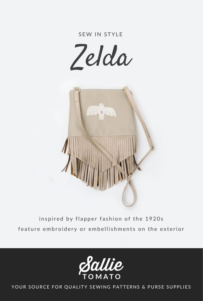 Zelda Bag Pattern Cover for Sew Along Party
