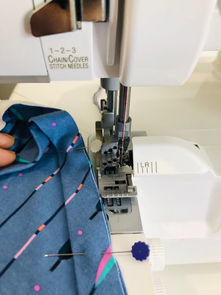 using a serger for tank top