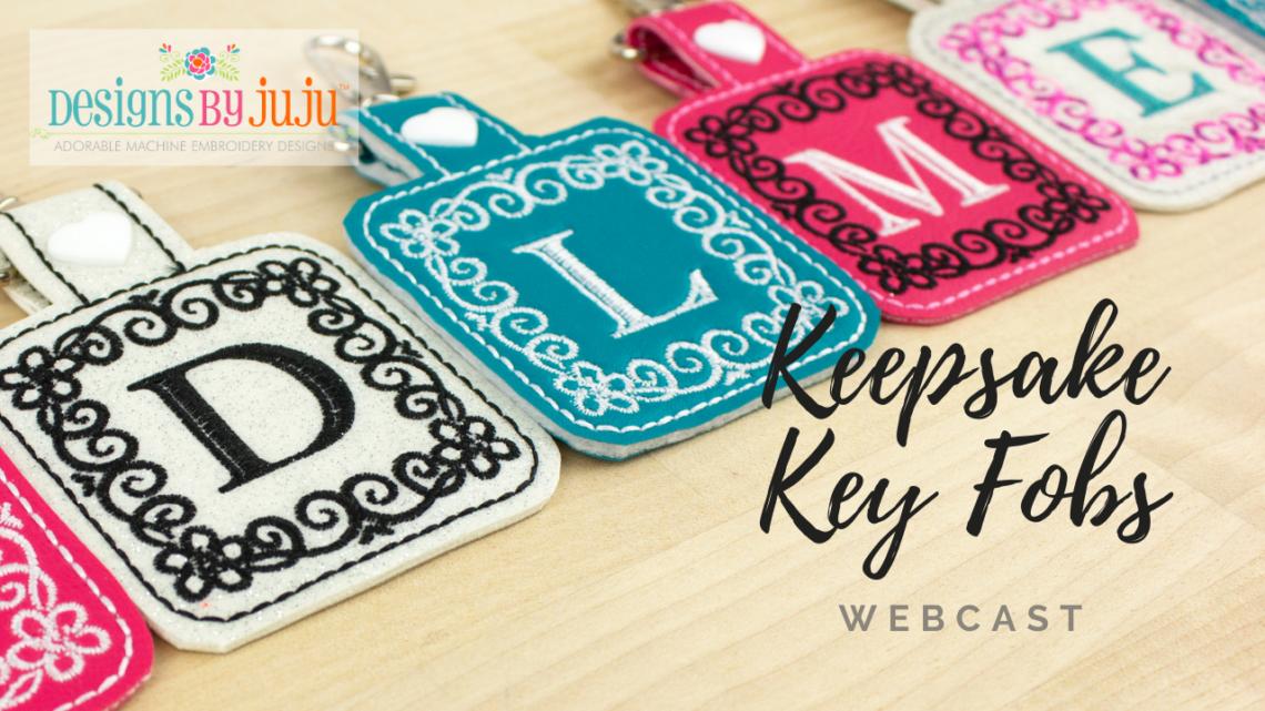 keepsake key fobs