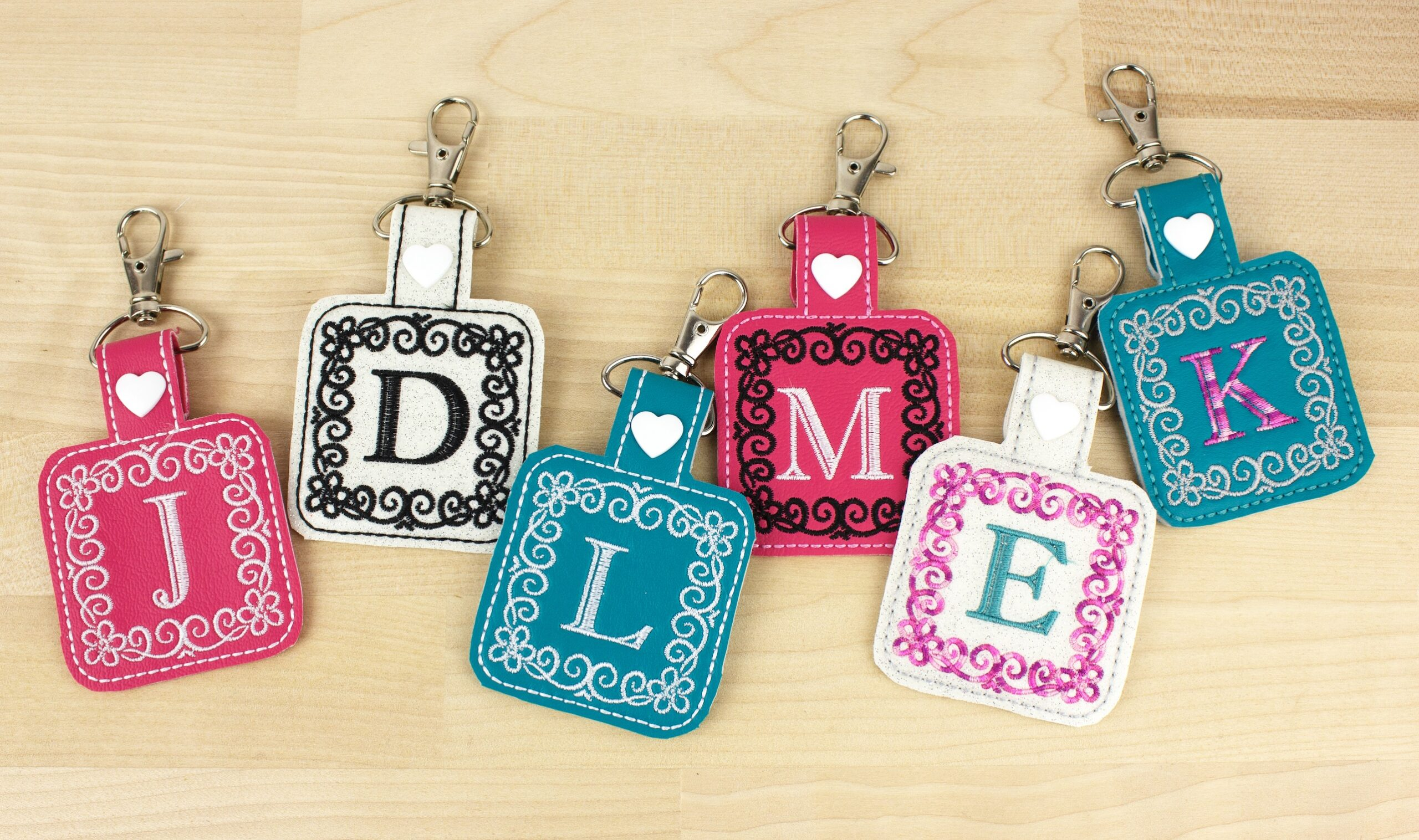 keepsake key fobs finished