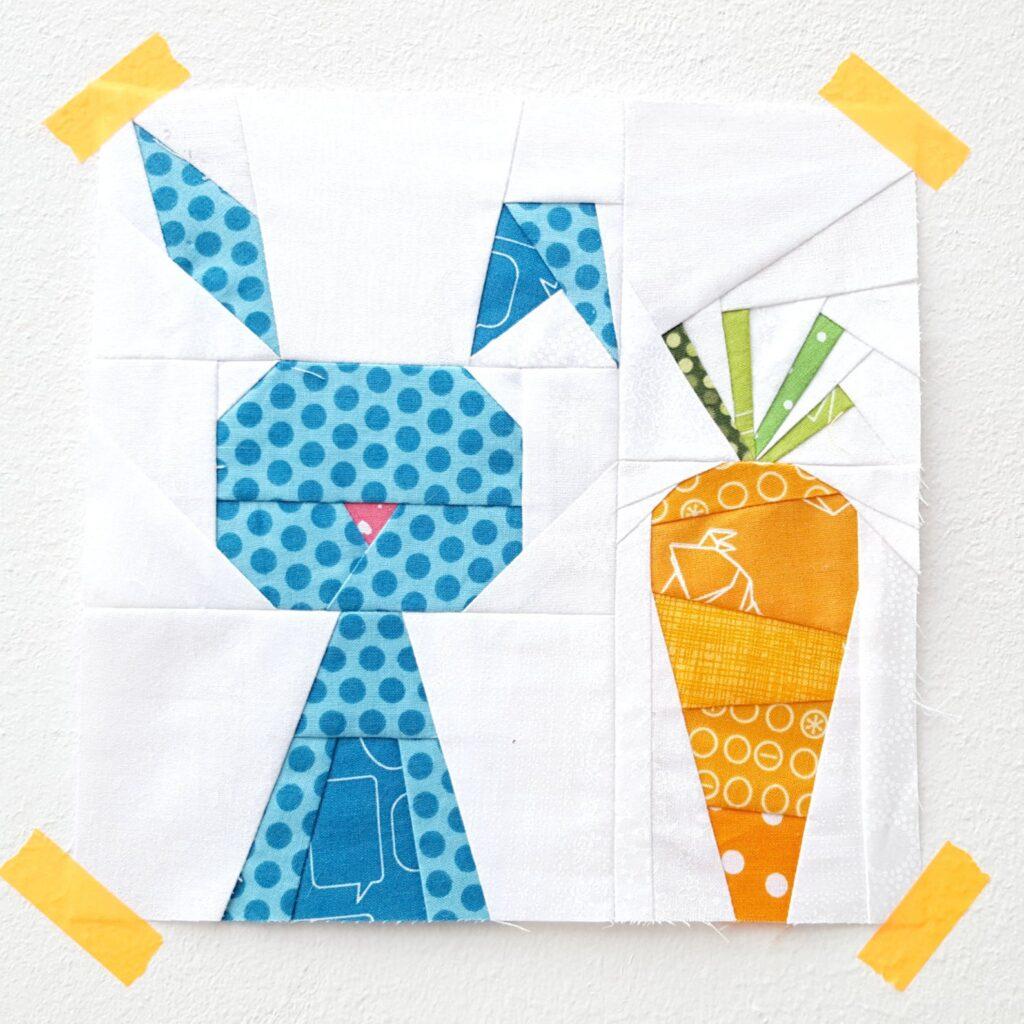 Easter bunny quilt block