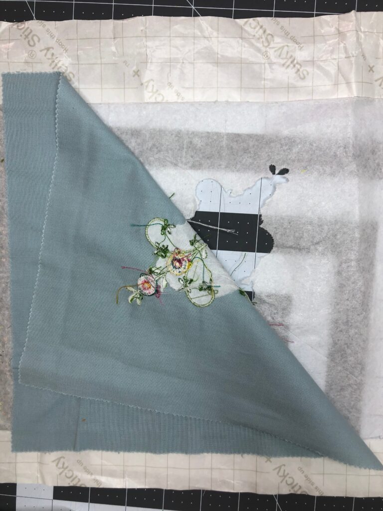 Mother's Day Table Runner Embroidery removal