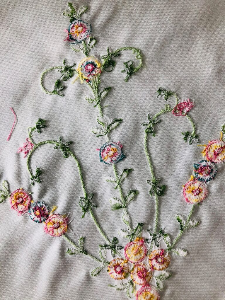 embroidery wrong side
