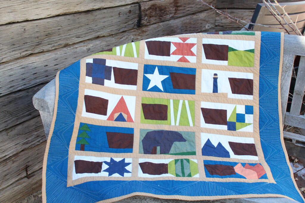 road trip quilt styled