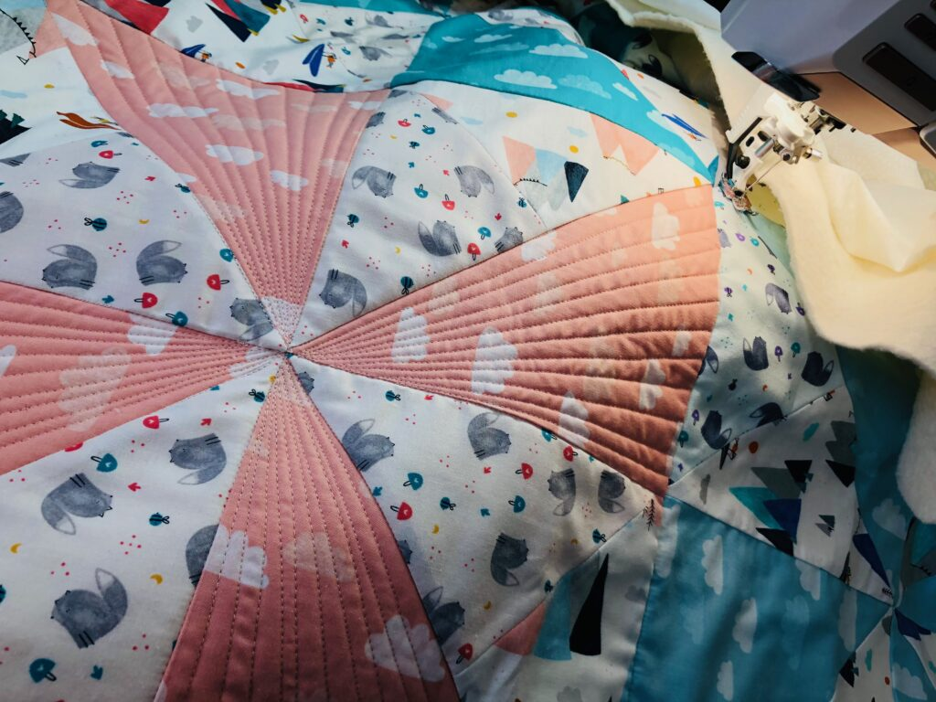 quilting the baby quilt