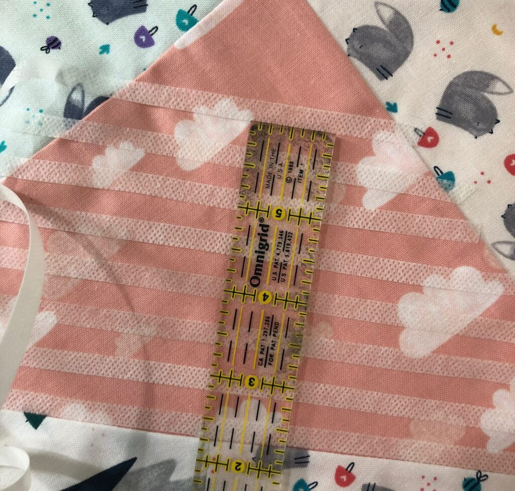 plotting quilting lines with stabilizer