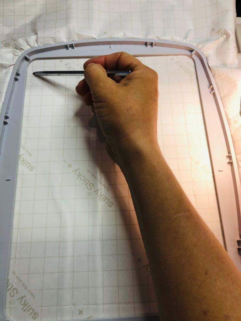 score with Sticky+ Slitting Pen