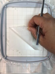 remove paper backing for blanks