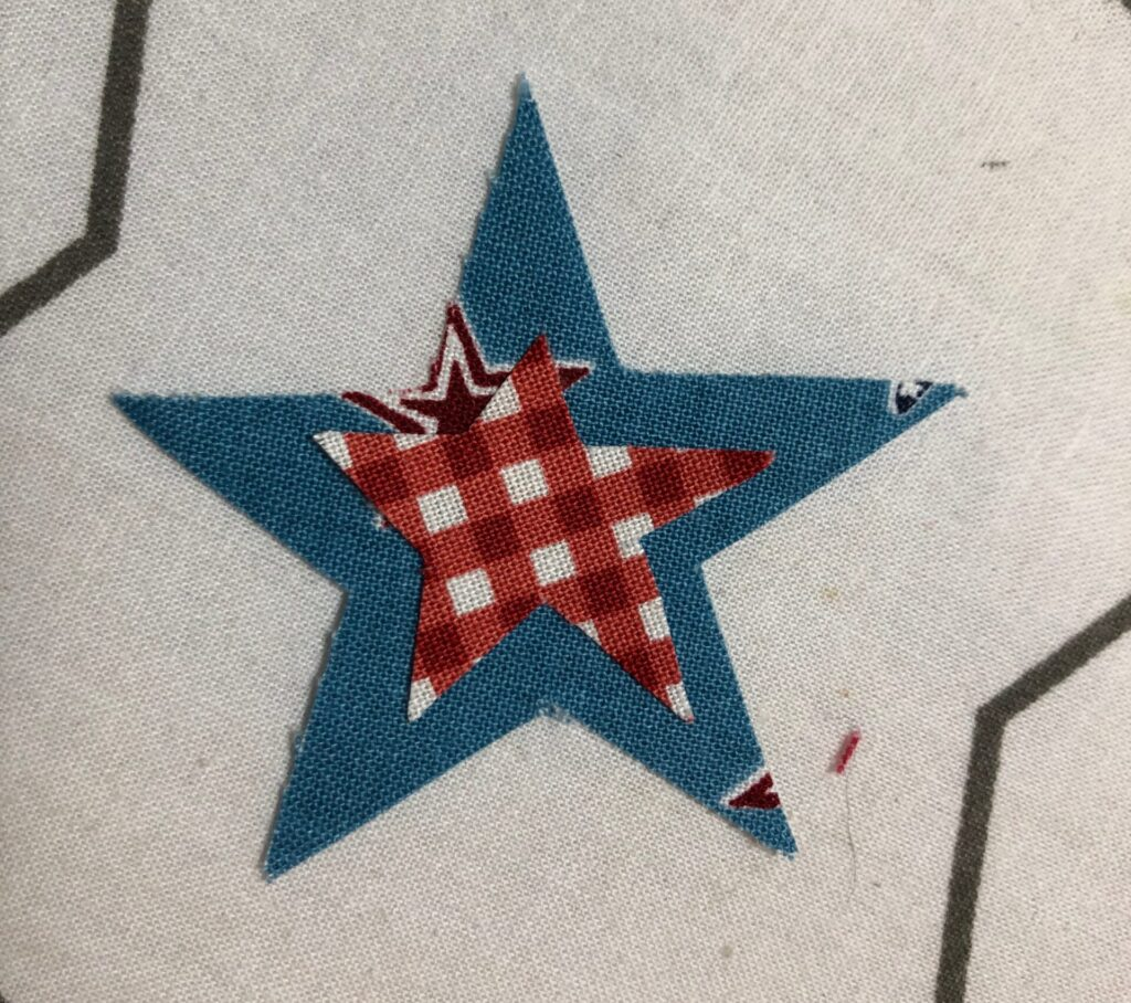 layering applique stars