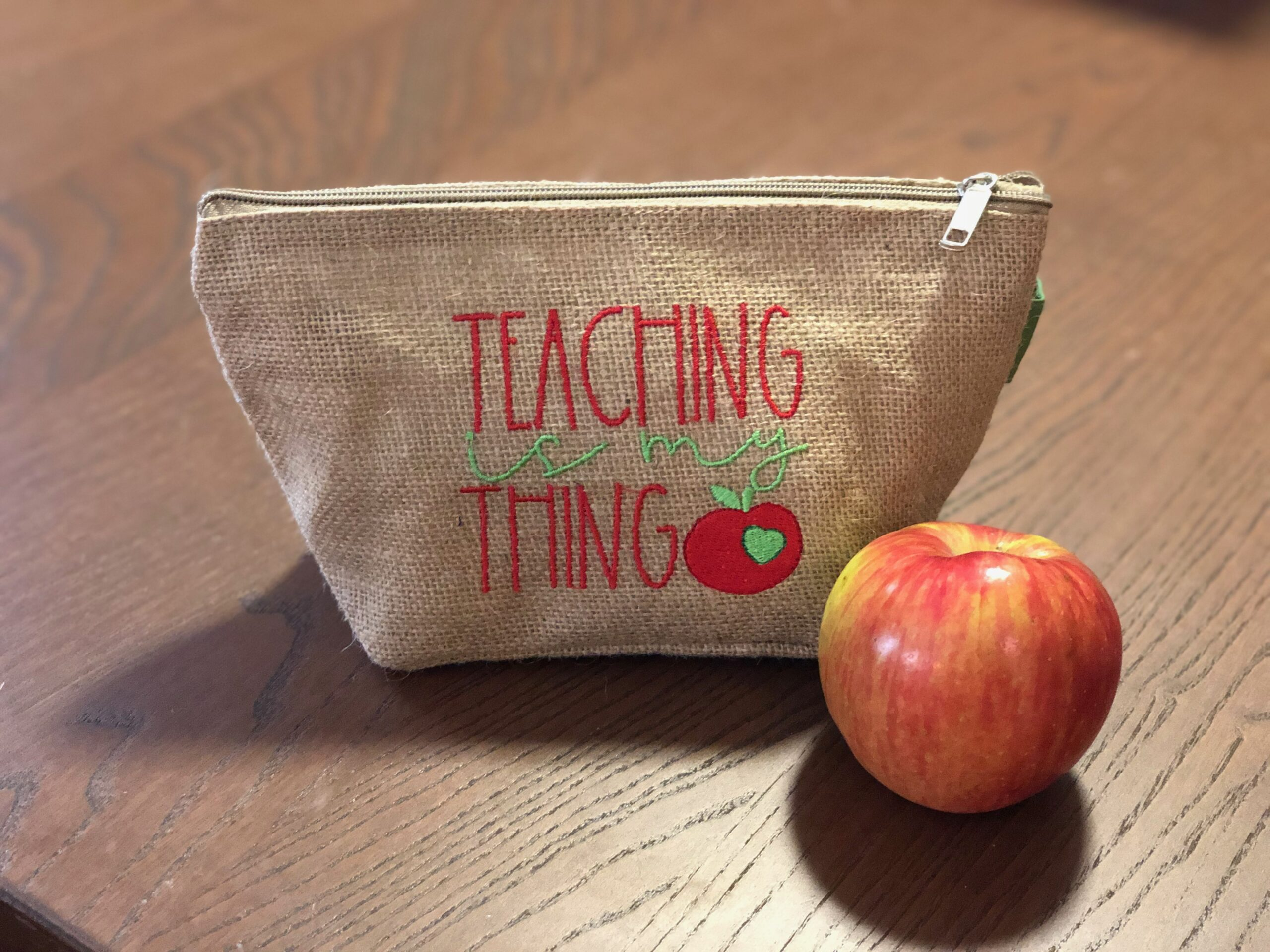 how to embroider blanks for teacher gifts
