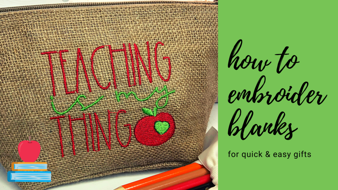 how to embroider blanks
