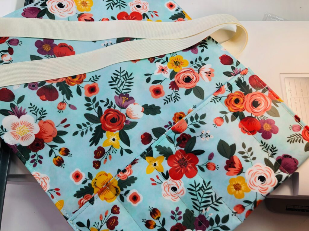 oilcloth on splashy sewing project