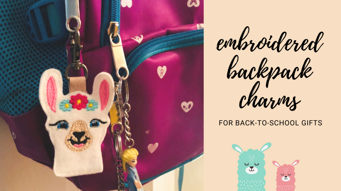 embroidered backpack charms