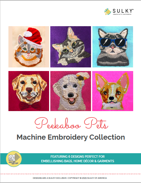 peekaboo pets embroidery collection